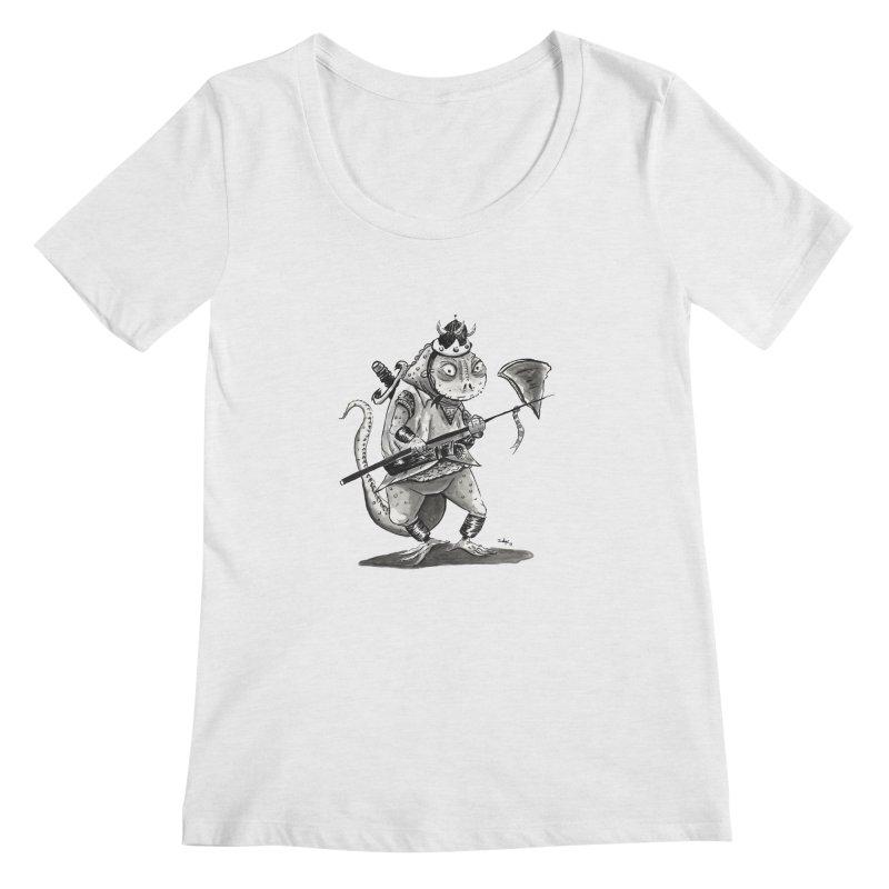 Lizard Warrior Women's Regular Scoop Neck by tjjudgeillustration's Artist Shop