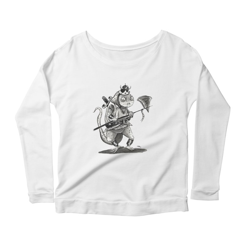 Lizard Warrior Women's Scoop Neck Longsleeve T-Shirt by tjjudgeillustration's Artist Shop