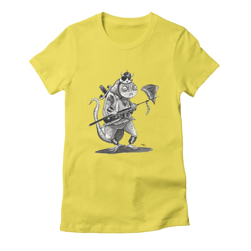 Lizard Warrior Women's T-Shirt by tjjudgeillustration's Artist Shop