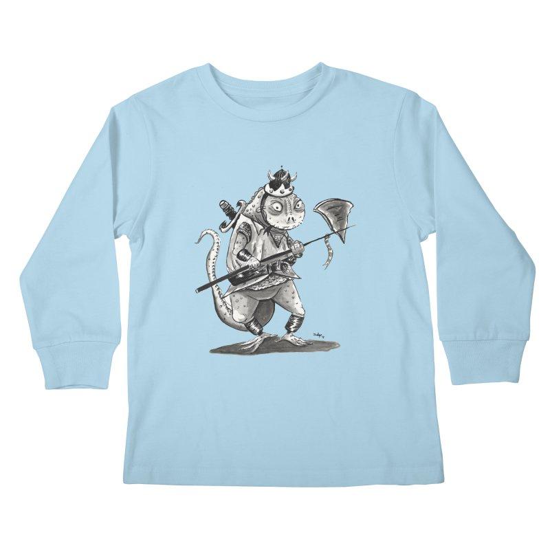 Lizard Warrior Kids Longsleeve T-Shirt by tjjudgeillustration's Artist Shop