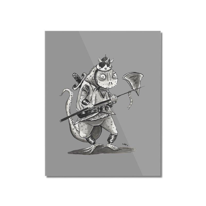Lizard Warrior Home Mounted Acrylic Print by tjjudgeillustration's Artist Shop