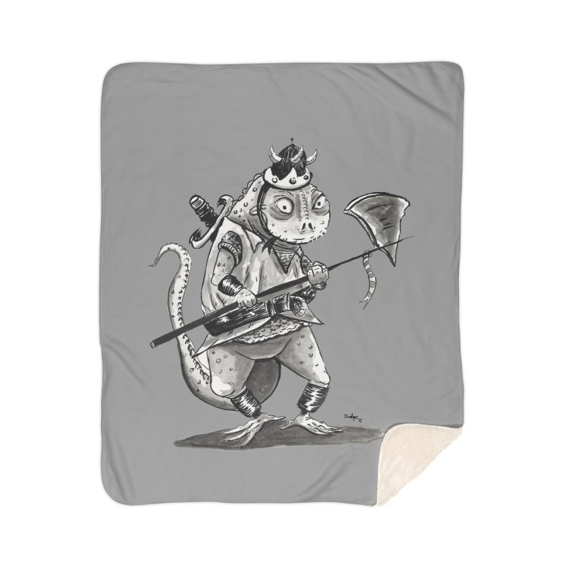 Lizard Warrior Home Sherpa Blanket Blanket by tjjudgeillustration's Artist Shop