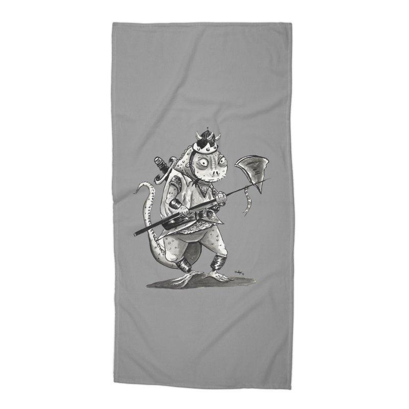 Lizard Warrior Accessories Beach Towel by tjjudgeillustration's Artist Shop
