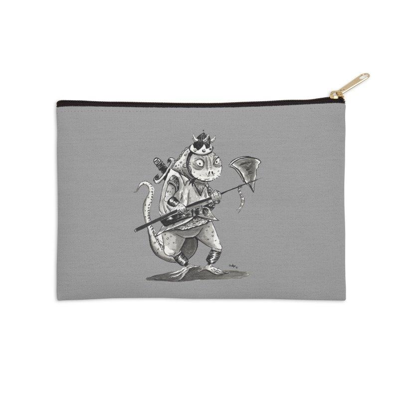 Lizard Warrior Accessories Zip Pouch by tjjudgeillustration's Artist Shop