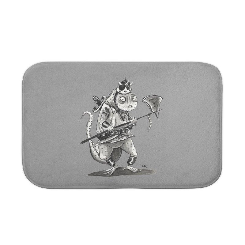 Lizard Warrior Home Bath Mat by tjjudgeillustration's Artist Shop