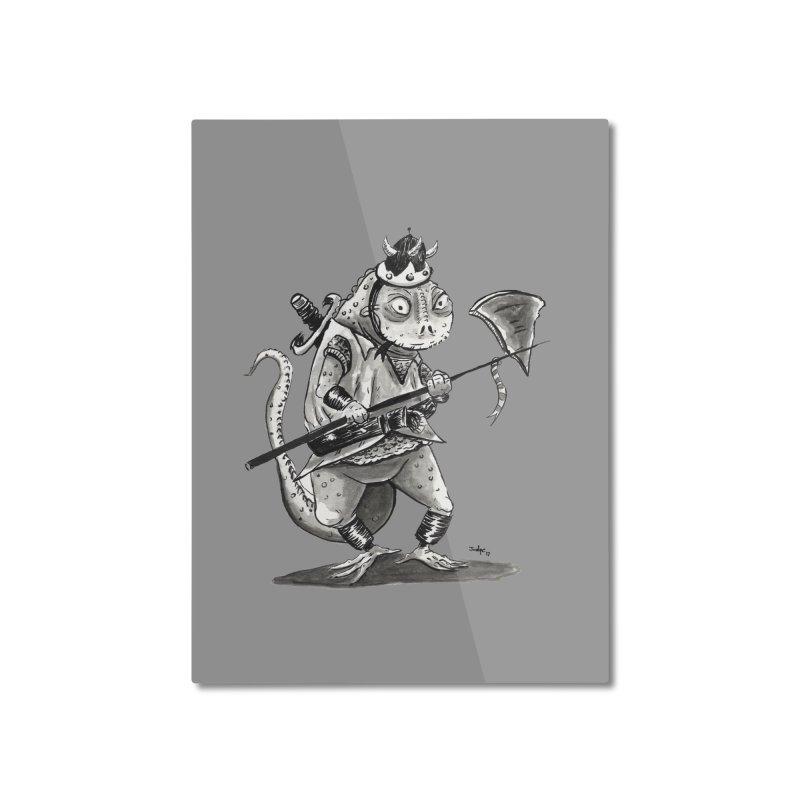 Lizard Warrior Home Mounted Aluminum Print by tjjudgeillustration's Artist Shop