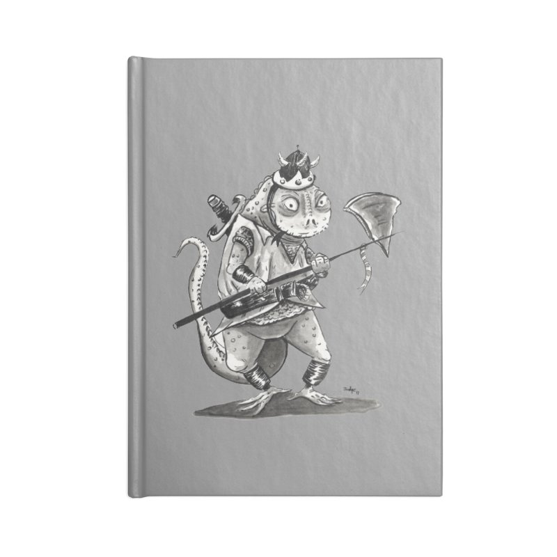 Lizard Warrior Accessories Lined Journal Notebook by tjjudgeillustration's Artist Shop