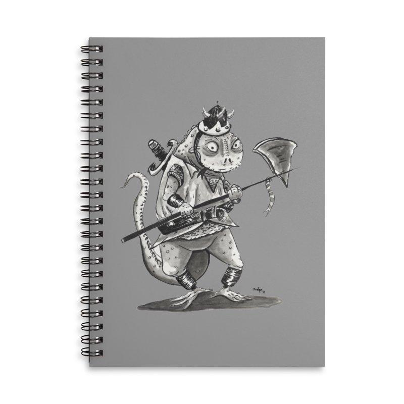 Lizard Warrior Accessories Notebook by tjjudgeillustration's Artist Shop