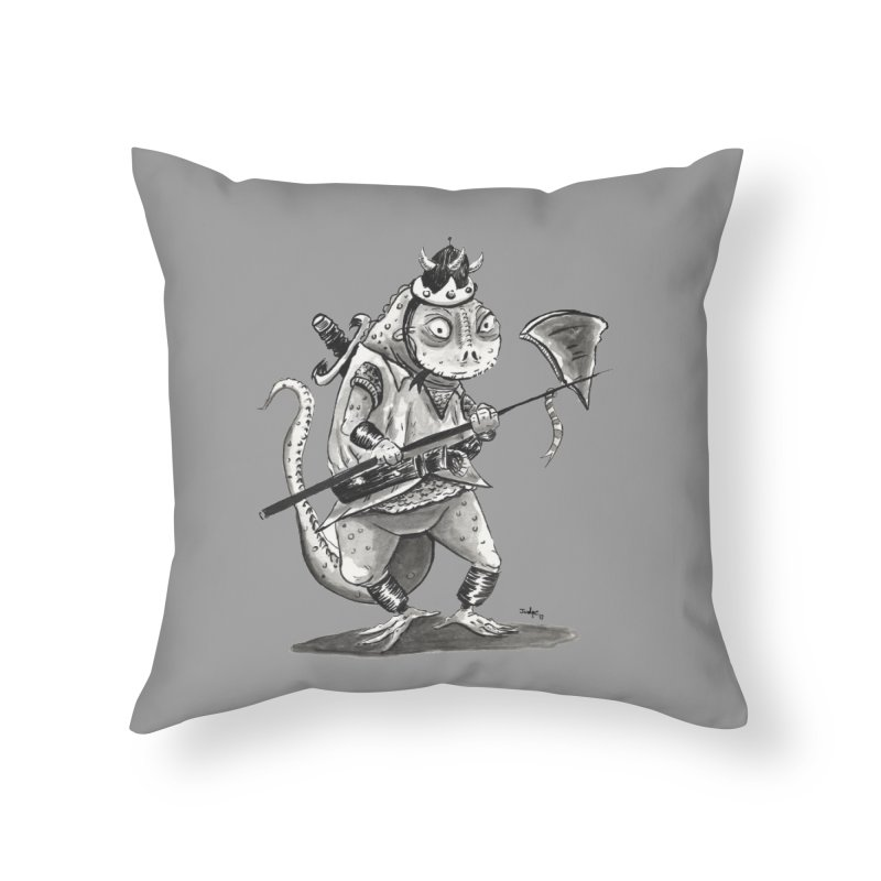 Lizard Warrior Home Throw Pillow by tjjudgeillustration's Artist Shop