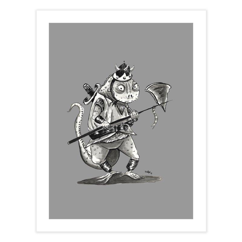 Lizard Warrior Home Fine Art Print by tjjudgeillustration's Artist Shop