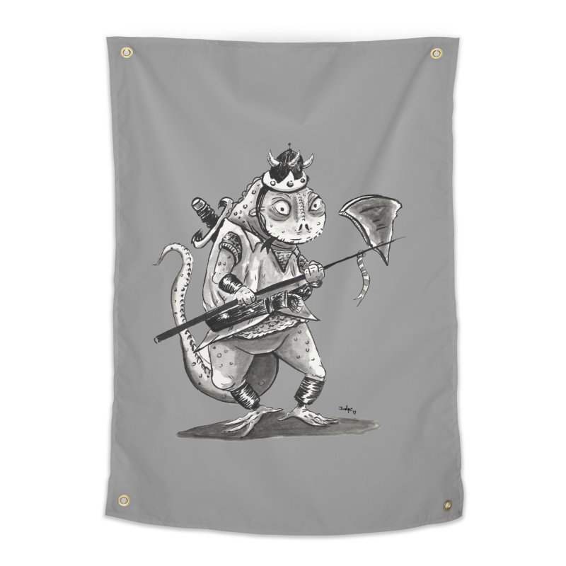 Lizard Warrior Home Tapestry by tjjudgeillustration's Artist Shop