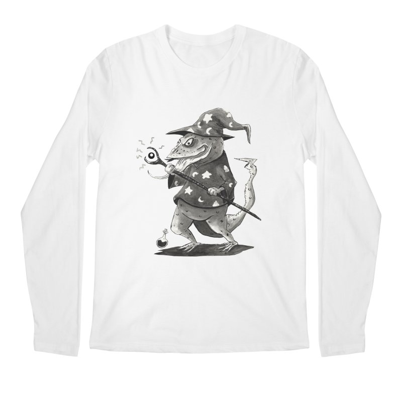 Wizard Lizard Men's Longsleeve T-Shirt by tjjudgeillustration's Artist Shop