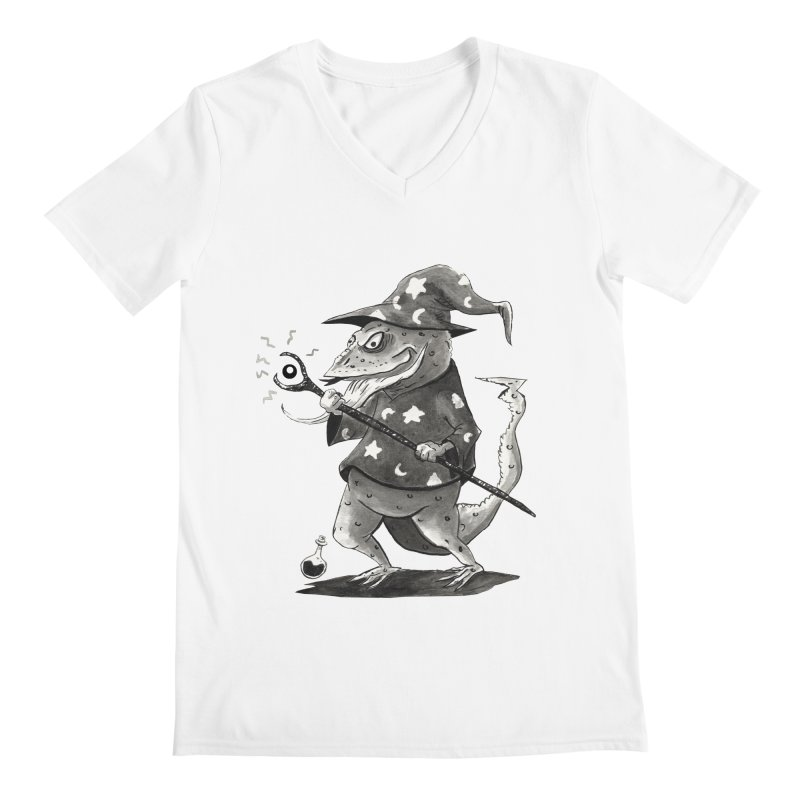 Wizard Lizard Men's V-Neck by tjjudgeillustration's Artist Shop
