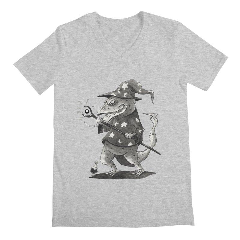Wizard Lizard Men's V-Neck by tjjudgeillustration's Artist Shop
