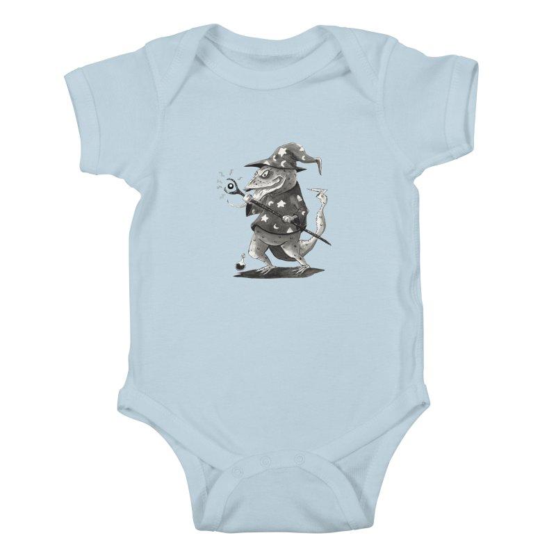 Wizard Lizard Kids Baby Bodysuit by tjjudgeillustration's Artist Shop