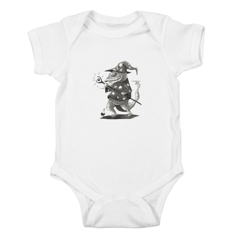 Wizard Lizard Kids Baby Bodysuit by tjjudgeillustration's Artist Shop