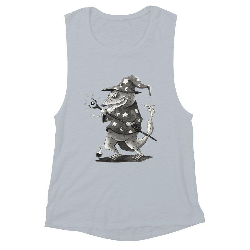 Wizard Lizard Women's Muscle Tank by tjjudgeillustration's Artist Shop
