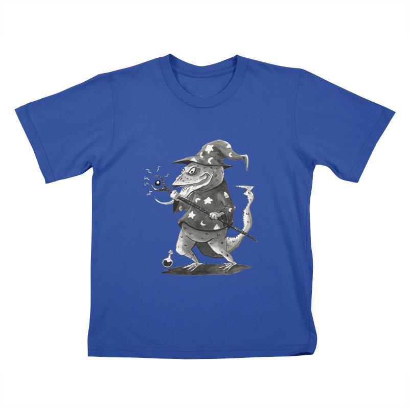 Wizard Lizard Kids T-Shirt by tjjudgeillustration's Artist Shop