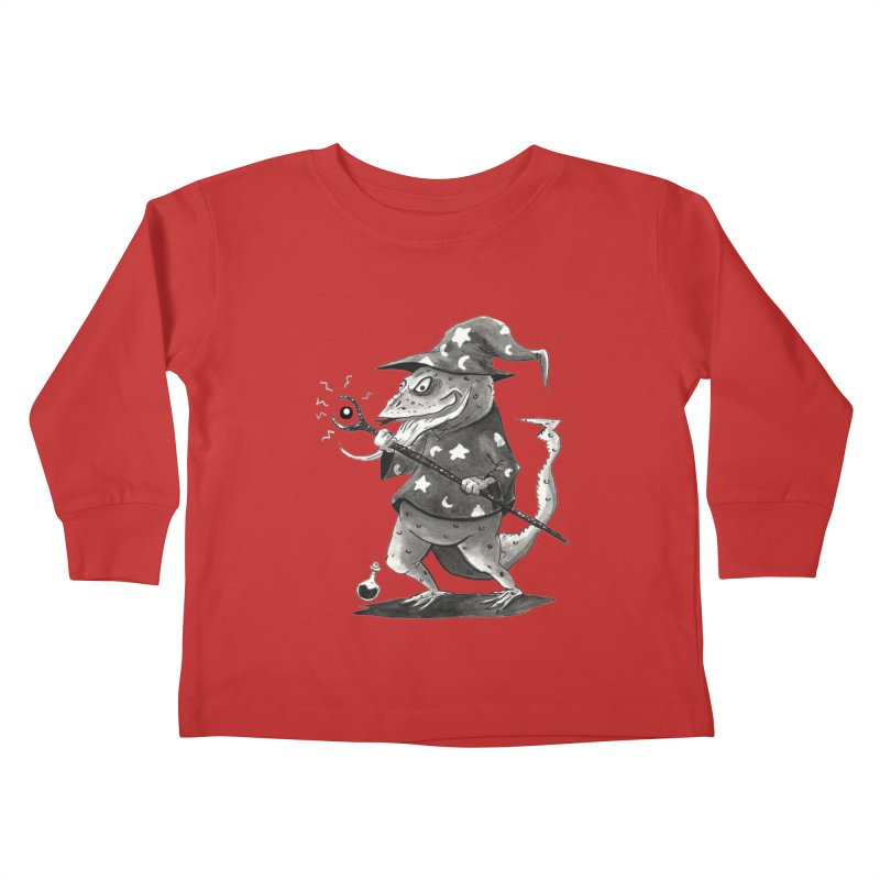 Wizard Lizard Kids Toddler Longsleeve T-Shirt by tjjudgeillustration's Artist Shop