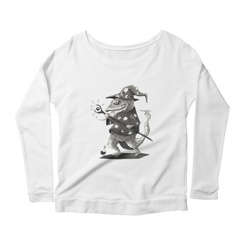 Wizard Lizard Women's Scoop Neck Longsleeve T-Shirt by tjjudgeillustration's Artist Shop