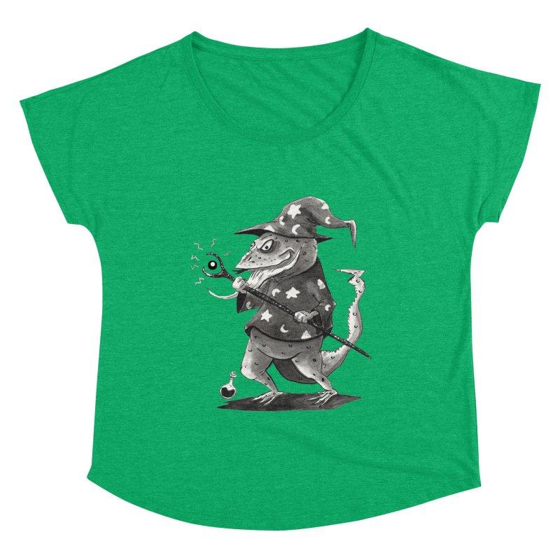 Wizard Lizard Women's Dolman Scoop Neck by tjjudgeillustration's Artist Shop
