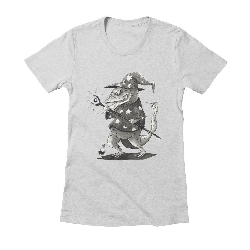 Wizard Lizard Women's Fitted T-Shirt by tjjudgeillustration's Artist Shop