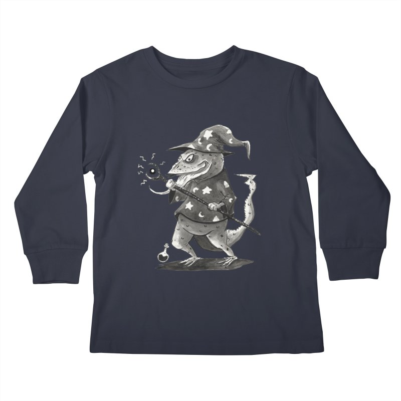 Wizard Lizard Kids Longsleeve T-Shirt by tjjudgeillustration's Artist Shop