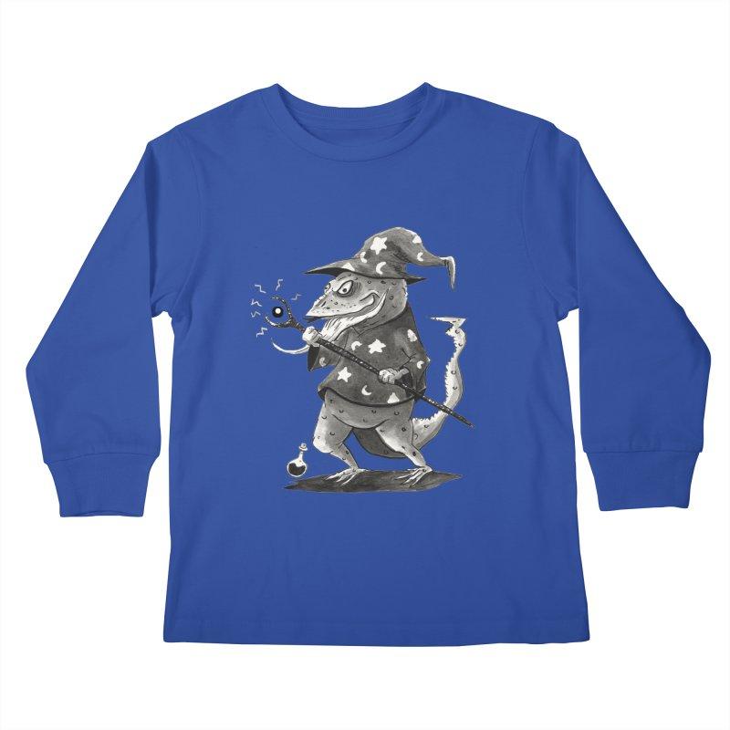Wizard Lizard Kids Longsleeve T-Shirt by tjjudgeillustration's Artist Shop