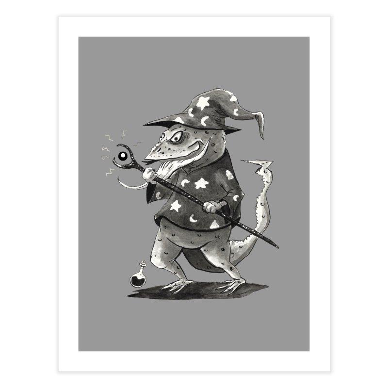 Wizard Lizard Home Fine Art Print by tjjudgeillustration's Artist Shop