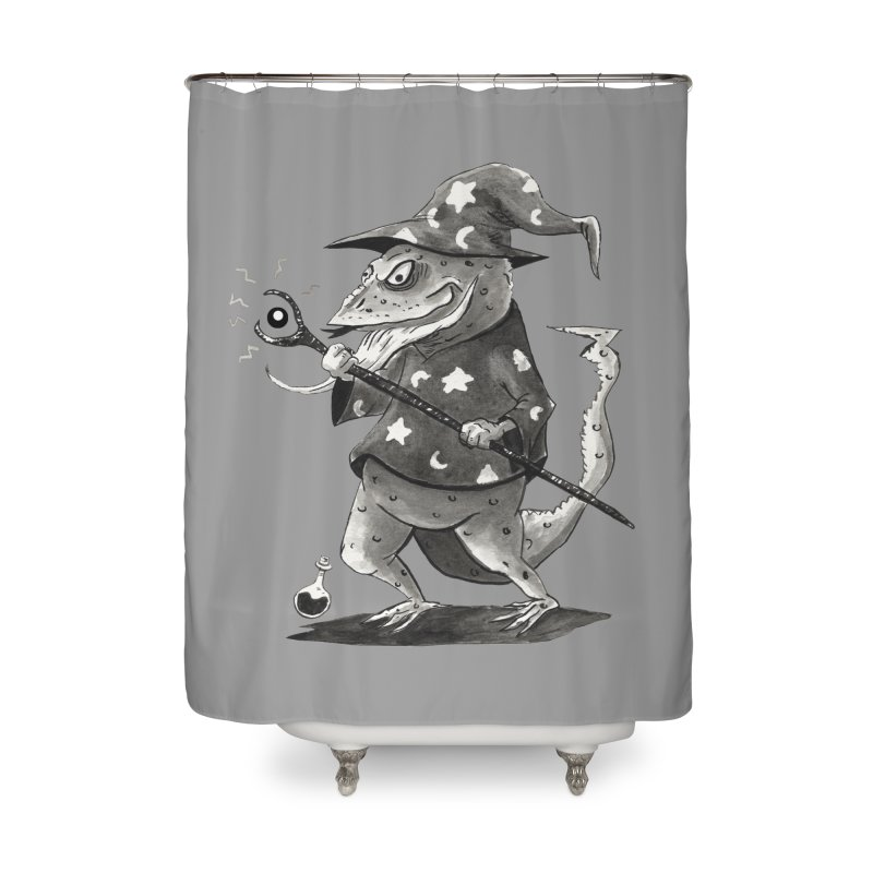 Wizard Lizard Home Shower Curtain by tjjudgeillustration's Artist Shop
