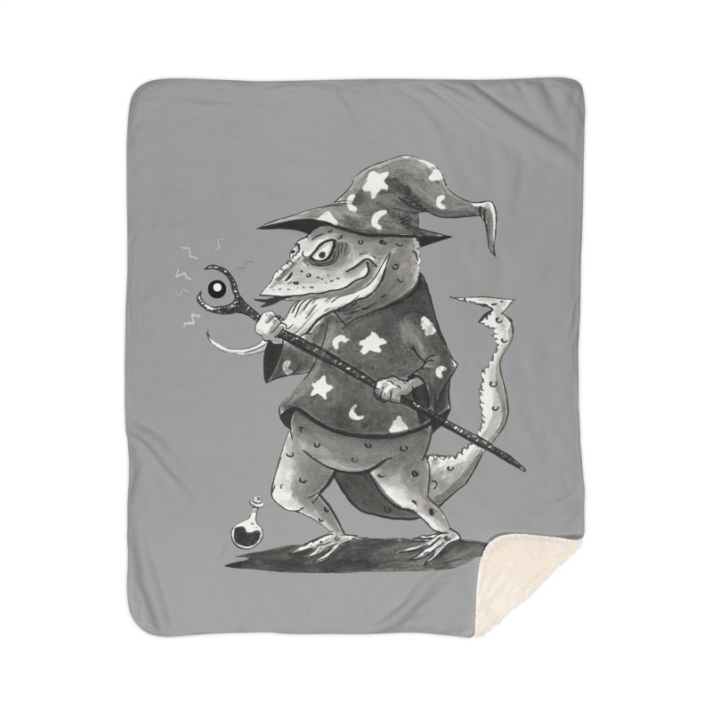 Wizard Lizard Home Sherpa Blanket Blanket by tjjudgeillustration's Artist Shop