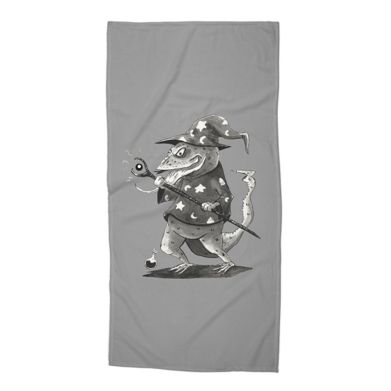 Wizard Lizard Accessories Beach Towel by tjjudgeillustration's Artist Shop
