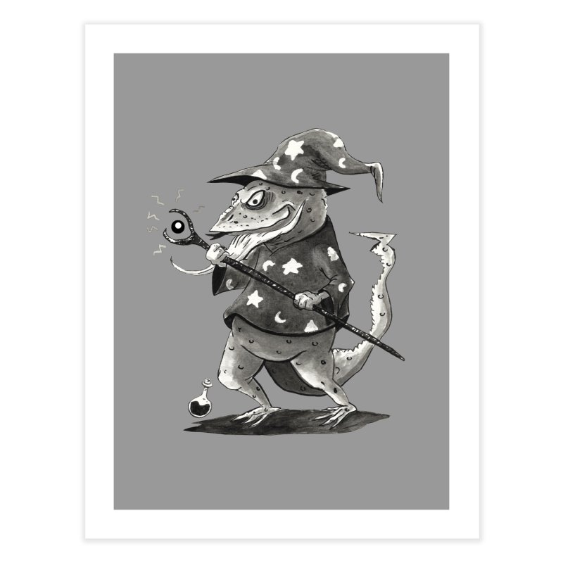 Wizard Lizard Home Fine Art Print by tjjudgeillustration's Artist Shop