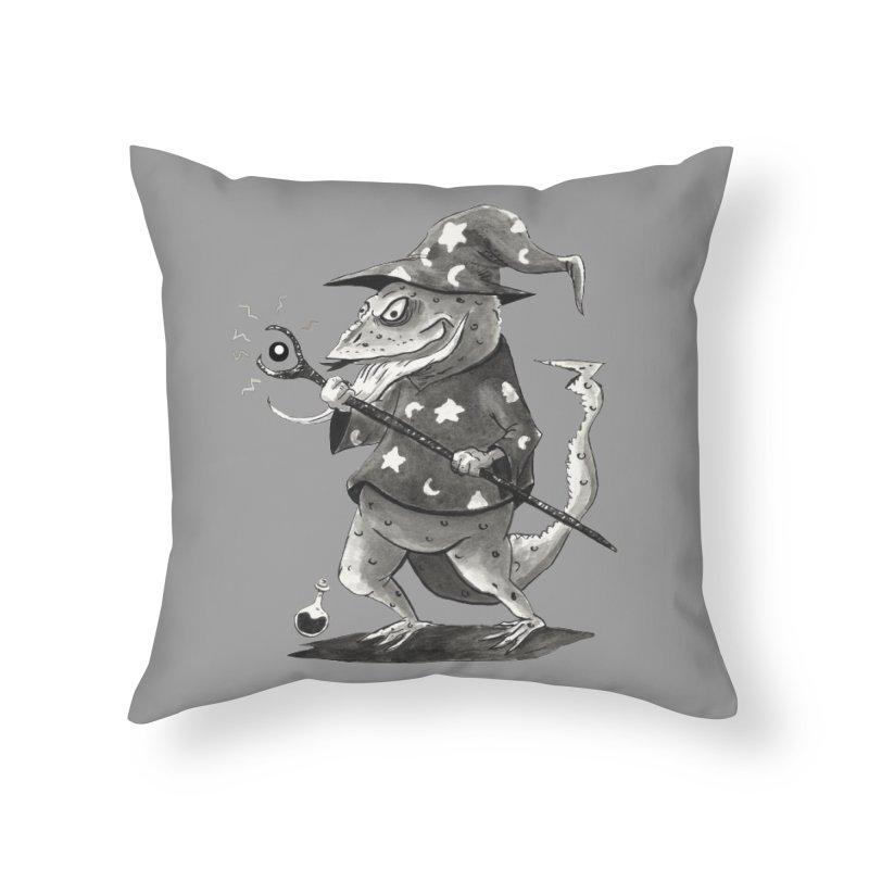 Wizard Lizard Home Throw Pillow by tjjudgeillustration's Artist Shop
