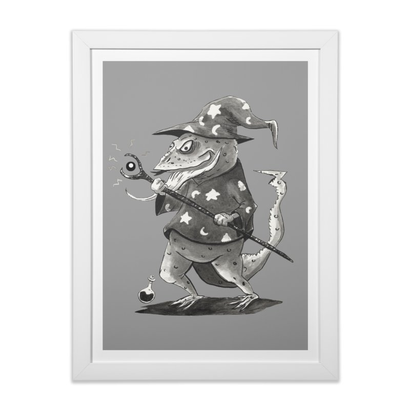 Wizard Lizard Home Framed Fine Art Print by tjjudgeillustration's Artist Shop