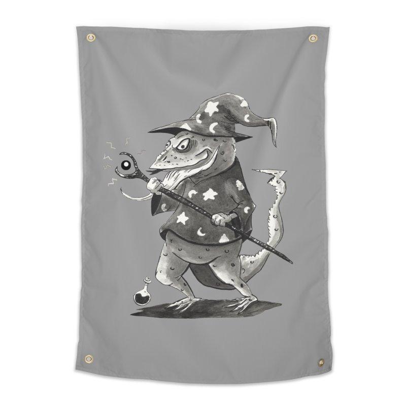 Wizard Lizard Home Tapestry by tjjudgeillustration's Artist Shop