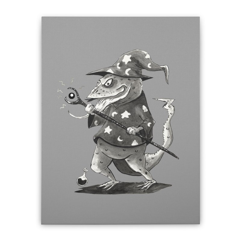 Wizard Lizard Home Stretched Canvas by tjjudgeillustration's Artist Shop