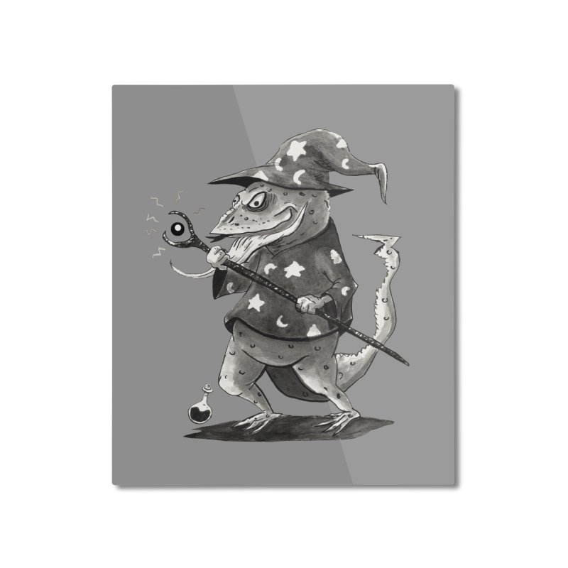 Wizard Lizard Home Mounted Aluminum Print by tjjudgeillustration's Artist Shop