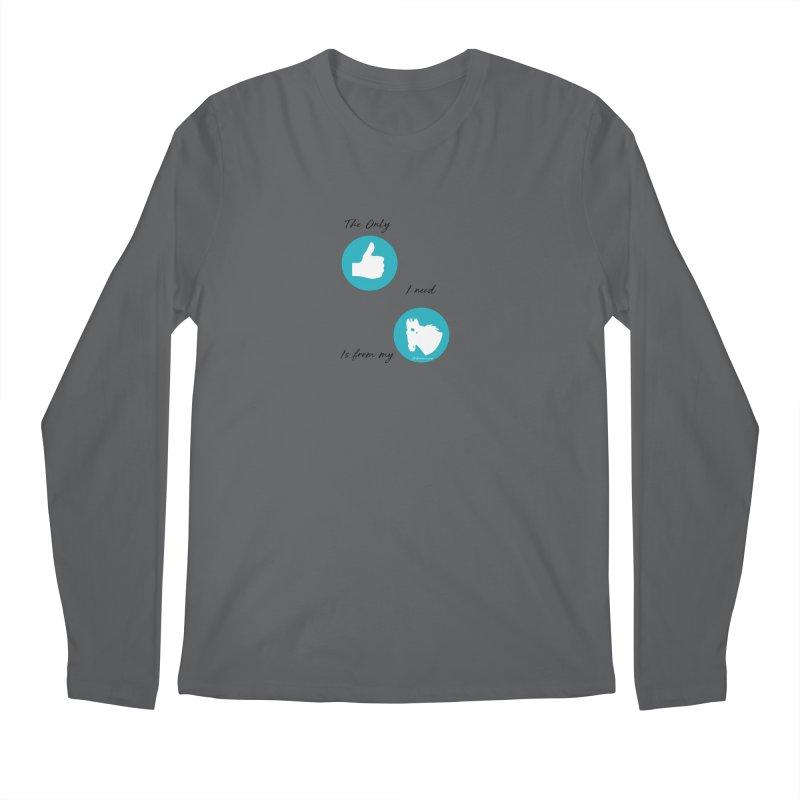 TKH Thumbs Up Love Men's Longsleeve T-Shirt by tkhorsemanship's Artist Shop