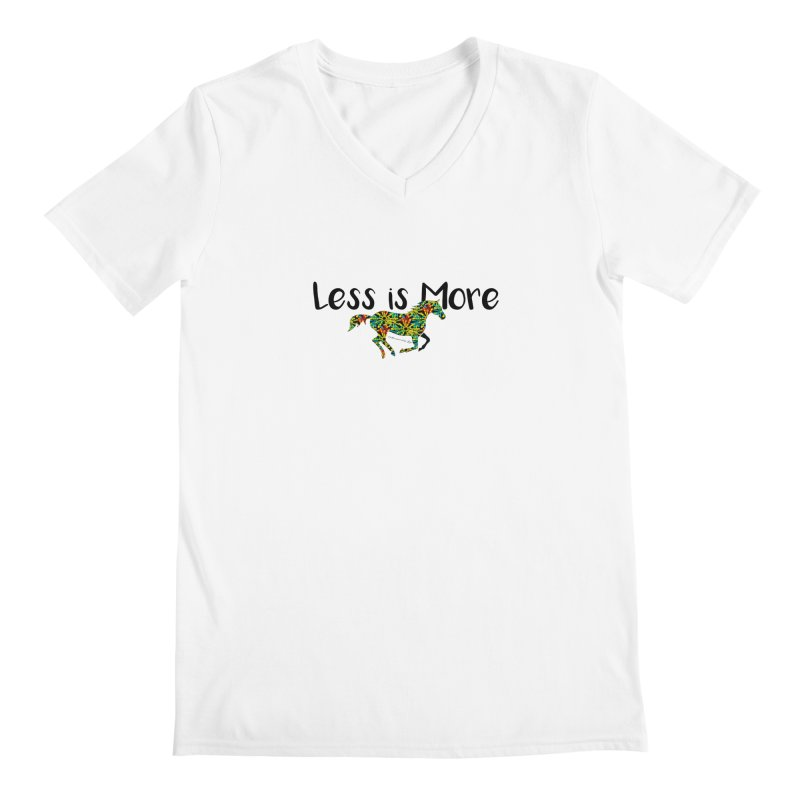 Less is More- TKH Men's V-Neck by tkhorsemanship's Artist Shop