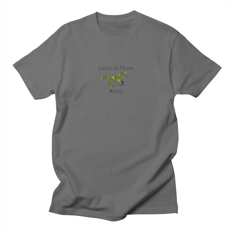 Less is More - TKH Kiss Men's T-Shirt by tkhorsemanship's Artist Shop