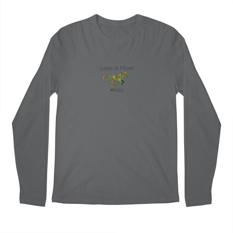 Less is More - TKH Kiss Men's Longsleeve T-Shirt by tkhorsemanship's Artist Shop