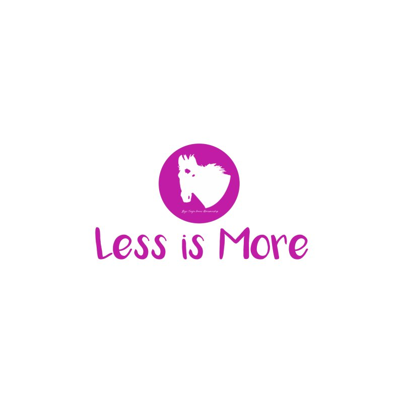 Less is more - TKH Pink Kids Toddler Pullover Hoody by tkhorsemanship's Artist Shop