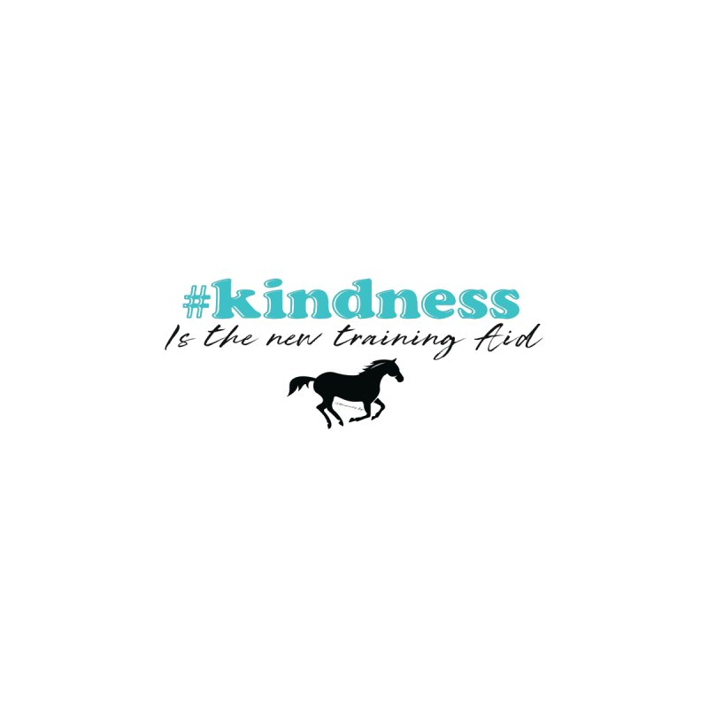 Kindness is the new training aid Women's V-Neck by tkhorsemanship's Artist Shop