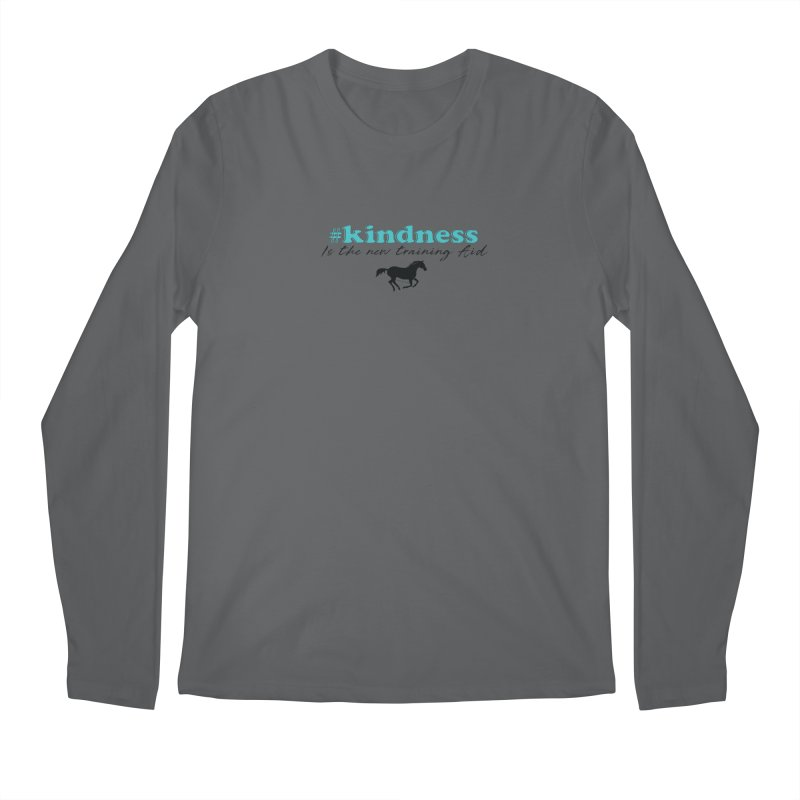 Kindness is the new training aid Men's Longsleeve T-Shirt by tkhorsemanship's Artist Shop