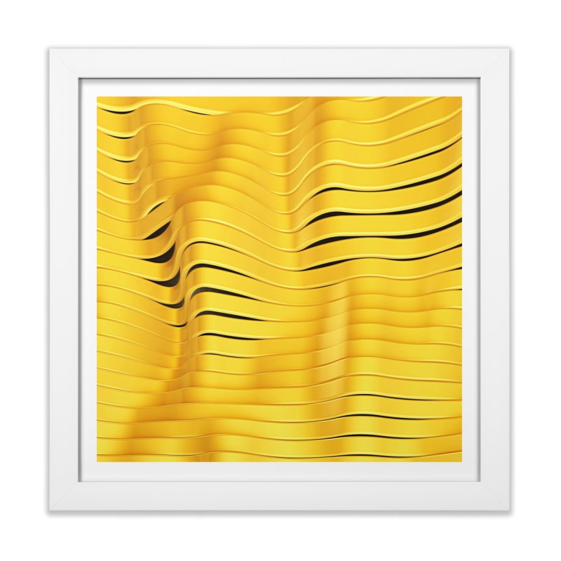 Goldie I in Framed Fine Art Print White by Abstract designs