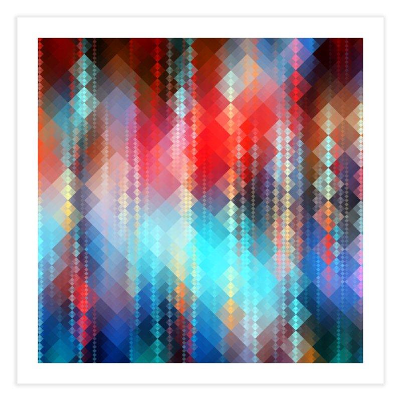 Fractal Pixels I Home Fine Art Print by Art Design Works