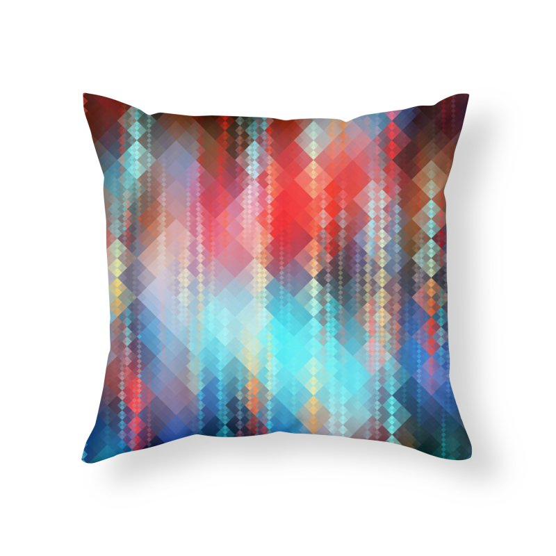 Fractal Pixels I  in Throw Pillow by Abstract designs