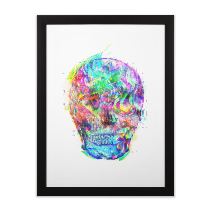 Artistic XLVI - PSYcHЭD - GLI†CH in Framed Fine Art Print Black by Abstract designs