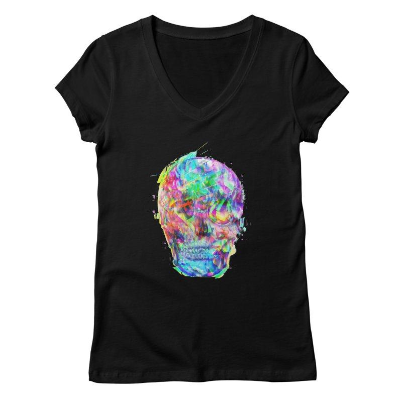Artistic XLVI - PSYcHЭD - GLI†CH Women's V-Neck by Art Design Works
